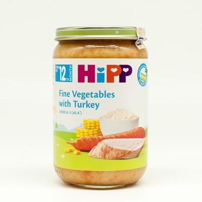 Dinh dưỡng đóng lọ Hipp - cơm nhuyễn gà tây rau tổng hợp 220g