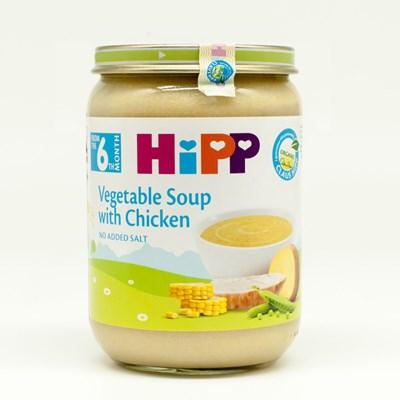 Dinh dưỡng đóng lọ HiPP sạch  - Súp rau thịt gà 190g