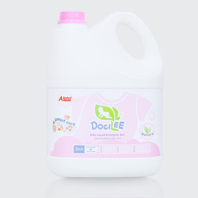 Nước giặt xả 2in1 Docilee hồng (3 lít)