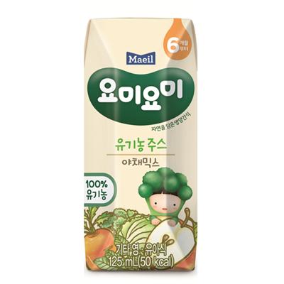 Nước ép Organic Yummy Yummy vị rau củ quả (125ml)