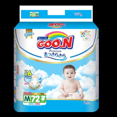 Tã - Bỉm dán GOO.N Premium M72 (7-12kg)
