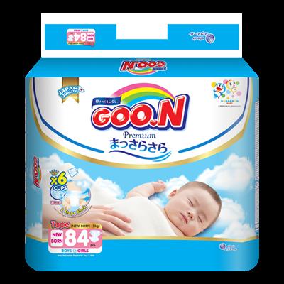 Tã - Bỉm dán GOO.N Premium New Born NB84 (<5kg)