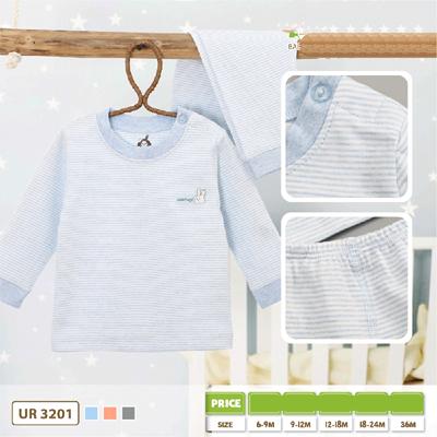 Bộ dài tay cài vai kẻ nhỏ Uala UR3201 (6M+)