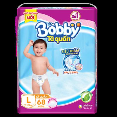 Tã - Bỉm quần Bobby trà xanh L68 (9 - 13kg)