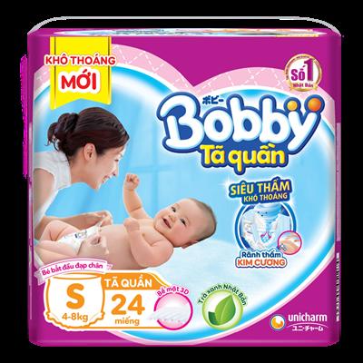 Tã - bỉm quần Bobby S24 (4-8kg)