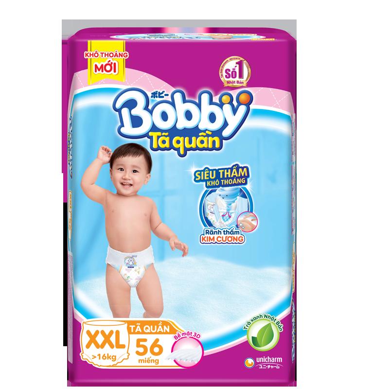 Tã - Bỉm quần Bobby trà xanh XXL56 từ 16kg trở lên
