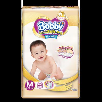 Tã Bỉm quần Bobby Extra Soft Dry M64 (6-10kg)