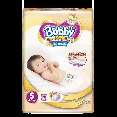 Tã Bỉm quần Bobby Extra Soft Dry S70 (4-8kg)