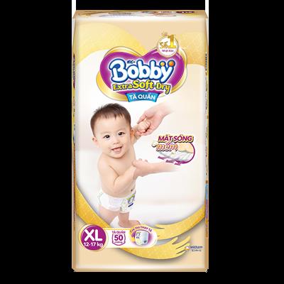 Tã Bỉm quần Bobby Extra Soft Dry XL50 (12-17kg)