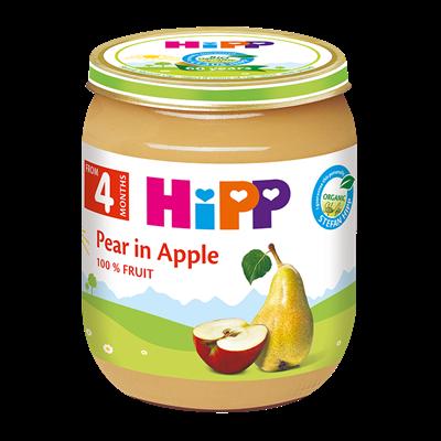 Dinh dưỡng đóng lọ HiPP Lê, Táo AL4320 (125g)