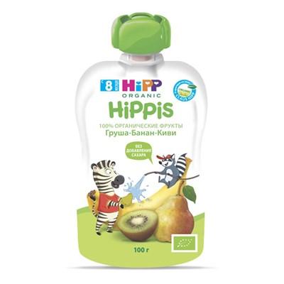 Dinh dưỡng trái cây nghiền hữu cơ HiPPiS Organic (Kiwi, Lê, Chuối)
