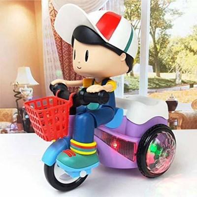 Đồ chơi mô hình bé đi xe máy xoay 360 độ YJ3023