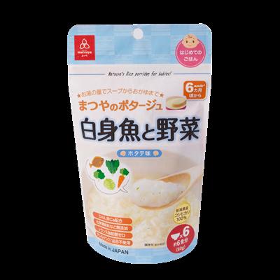 Cháo gạo Koshihikari vị sò điệp với thịt trắng và rau Matsuya 60g (6M+)