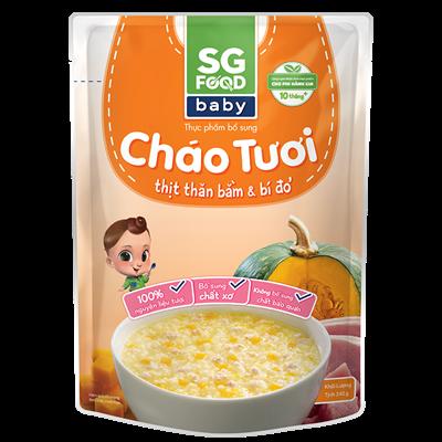 Cháo tươi Baby SG Food - Thịt thăn bằm bí đỏ 240g (10M+)