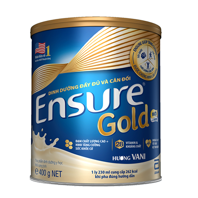 Sữa Ensure Gold 400g - hương vani