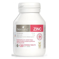 Vien uong bo sung kem Bio Island Zinc (120 vien)