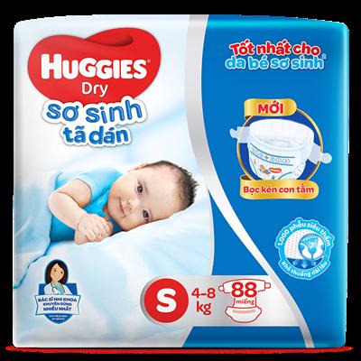 Tã dán sơ sinh Huggies S88 (4-8kg)