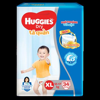 Tã bỉm quần Huggies XL34 (12-17kg)