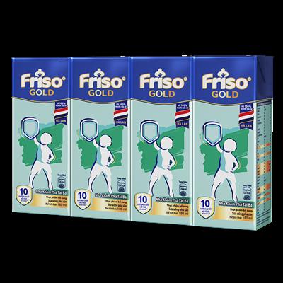 Sữa bột pha sẵn Friso Gold vani 180ml (lốc)