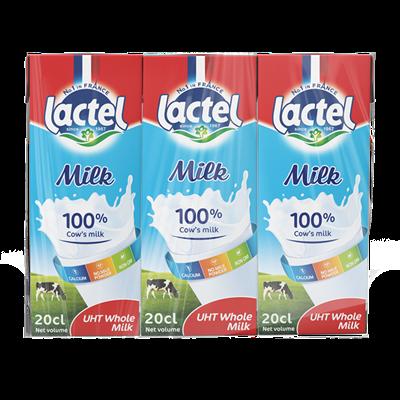 Sữa tươi tiệt trùng Lactel nguyên kem lốc 3 hộp x 200ml