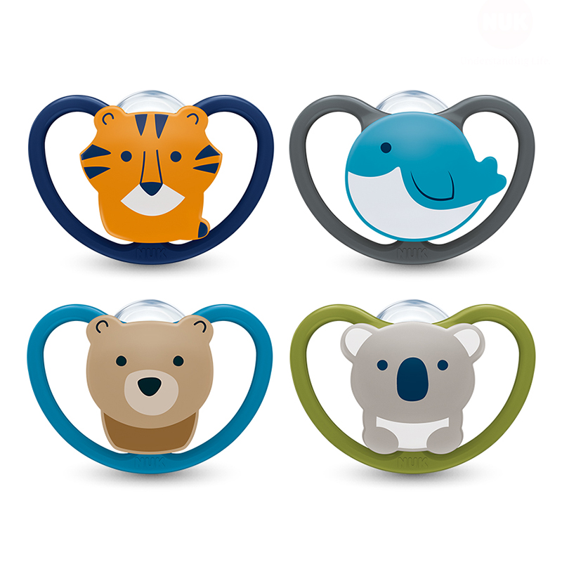 Bộ 2 ty ngậm Nuk Space Silicone NU31881, NU31876 (0M+)