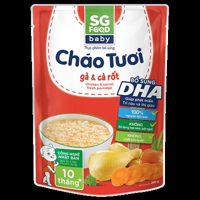 Cháo tươi Baby SG Food - Gà, cà rốt 240g (10M+)