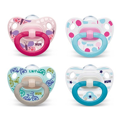 Bộ 2 ty ngậm silicone classic Nuk NU01809 (6-18M)