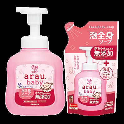 Combo sữa tắm gội toàn thân Arau Baby 450ml (01 chai + 01 túi)