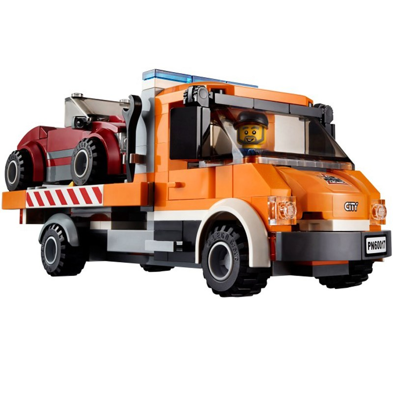 Do choi xep hinh LEGO City 60017 Flatbed Truck
